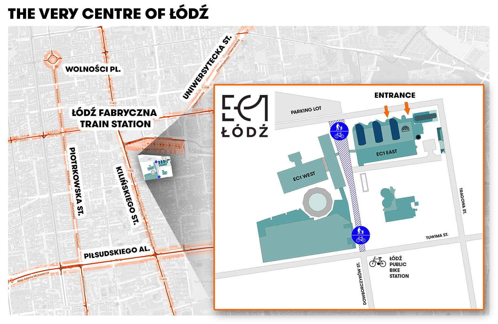 "Map of ""EC1 Łódź - City of Culture"" in Łódź"