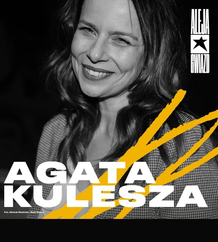 Agata Kulesza w Łódzkiej Alei Gwiazd